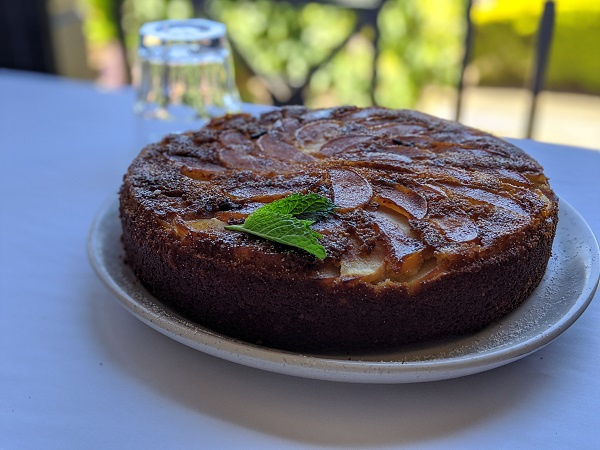 Upside-down Caramelised Apple and Spiced Yoghurt Cake